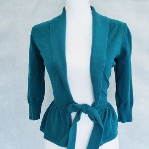 The Limited Teal Wrap Cardigan Sweater
